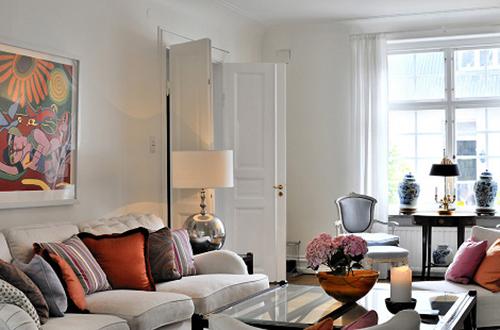 white interior design with art idea3