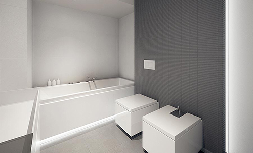 white interior design with black idea 3