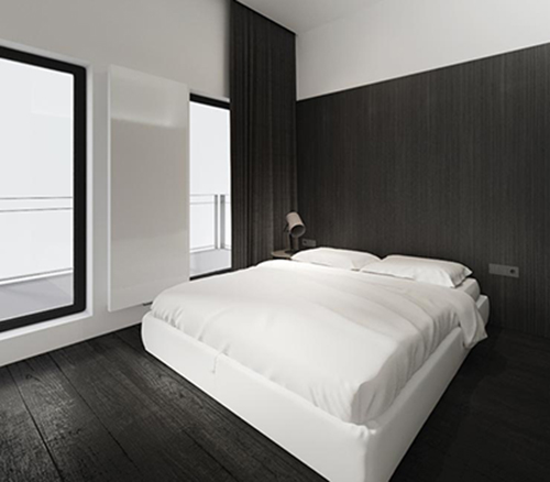 white interior design with black idea 6