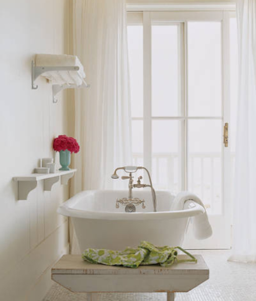 white interior design with vintage idea 1